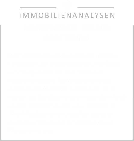 Immobilienanalysen